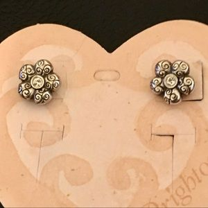 Brighton Daisy Flower Swarovski Mini Post Earrings